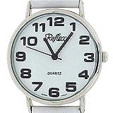 Reflex Unisex Datum klassisch Quarz Uhr mit Leder Armband 101306LT