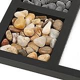 MagiDeal Zen Garten Sand Tray Stein Holz Rake Haus Zimmer Fengshui Dekoration Geschenke -