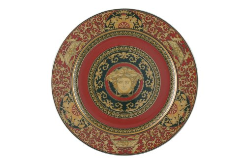 Versace by Rosenthal Medusa Red Service Plate by Rosenthal Rosenthal Versace Medusa