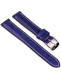Morellato Golf Vitello Aqua Ersatzband Uhrenarmband Kalbsleder Marineblau 18mm