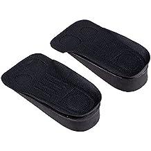 TOOGOO(R) Almohadilla insertada Plantilla mas alta de zapatos espuma de elevacion aumentada de altura Negro Par