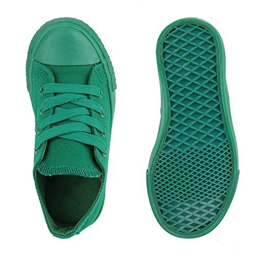 Kinder Sneakers Viele Farben Sportschuhe Turnschuhe Schnürschuhe Grün