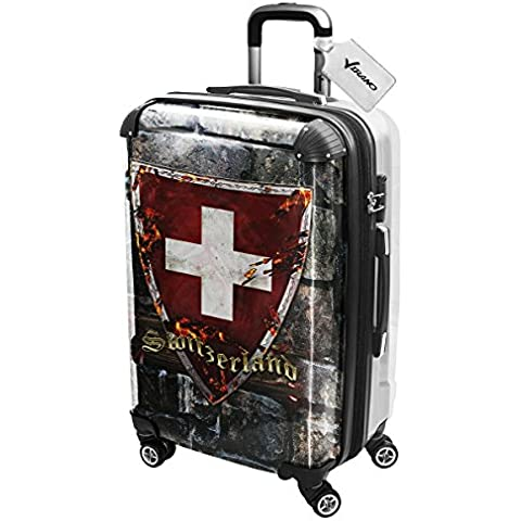 Stemma Collezione 3, Custom Ultraleggero 4 Route Wheel Spinner Luggage Valigia Bagaglio a Mano Trolley Rigido Hand Case Shell Cover Trolley Travel