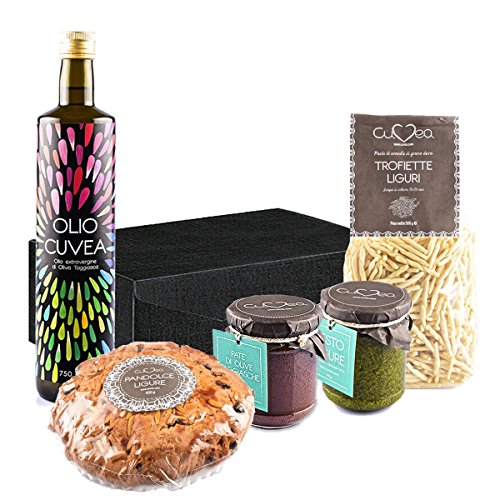 Cesto natalizio regalo con prodotti tipici liguri della nostra azienda agricola - cesto regalo natalizio cuvea