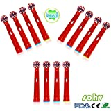 SOHV® estándar recambios cabezales para cepillos de dientes eléctricos para niños para para Braun Oral-B EB10–4,12pcs (3packs)