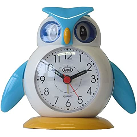 Trevi 3045 - Lilla y Lallo - Reloj despertador de diseño infantil en forma de pájaro – Color azul