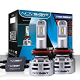 NOVSIGHT H11 H8 H9 H16(JP) LED Headlight Bulbs 10000LM(2x5000LM) 60W(2x30W) 6500K Cool White