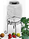 Bada Bing Getränkespender Mit Ständer 3,5l aus Glas mit Zapfhahn und Deckel 07WV