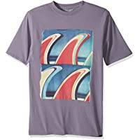 Quiksilver Men's Short Sleeve Gmt Dye Fin Fanatic T-Shirt