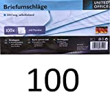 Briefumschläge Made in Germany, DIN lang, selbstklebend mit Fenster, Folienpack eingeschweißt, weiß, geeignet für Deutsche Post Standard Brief und Kompaktbrief (100)