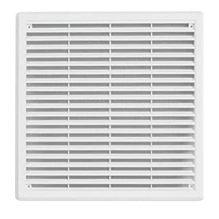 Haco–ASA Plastic Ventilation Grille, Insect Protection: 300x 300mm–White