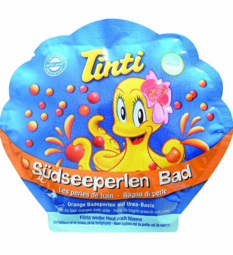Perlenbad (TINTI Perlenbad gelbe+rote Perlen, Pfirsich Duft, für Kinder)