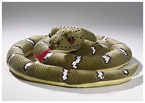 Schlange grün geringelt aus Plüsch mit ca. 30cm Durchmesser und ca. 135cm Gesamtlänge von Carl Dick