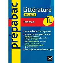 Prépabac examen Littérature Tle L Bac 2012