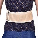 Unisex Postura Corrector Autocalentamiento Terapia magnética Cinturón de espalda Soporte Madera Soporte para la cintura Alivio del dolor