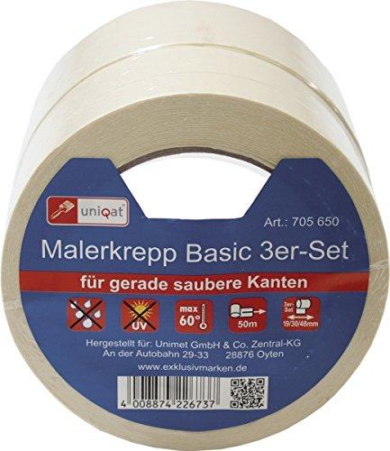 Unimet Klebeband-Set, 1 Stück, weiß, UM705650