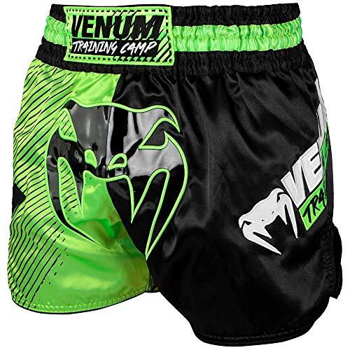 Venum Muay Thai Shorts, Training Camp, schw-grün Größe S (Muay Shorts Thai)