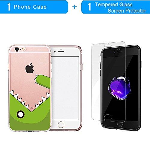 Coque iPhone 6S Plus, TrendyBox Transparent PC Hard Cover avec soft TPU Pare-chocs pour iPhone 6/6S Plus avec verre trempe film de protection (Danseuse de ballet) 121