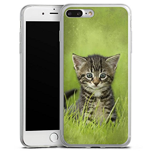 Apple iPhone 8 Slim Case Silikon Hülle Schutzhülle Katzenbaby Katze Kitten Cat Silikon Slim Case transparent