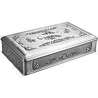 Feyarl Vintage Joyero joyería Caja Organizador de Almacenamiento Tesoro Pecho Envejecido Rectangular con Grabado Rosa Flores