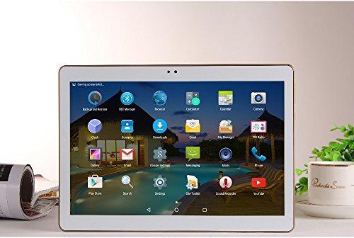 hongfei 10 Zoll Tabletten Android 5.1 Octa-Kern 3G Dual Sim 4G + 64 GB Bluetooth 2560 * 1600 PC Tablette mit Kamera (EU-Plug)