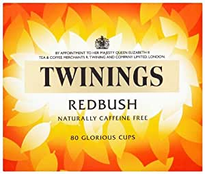 Twinings Naturally Caffeine Free Redbush Tea Bags 80 Tea Bags (Pack of 4, total 320 Tea Bags)