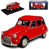 alles-meine.de GmbH Citroen 2CV 1972 Rio Rot 1949-1990 1/18 Norev Modell Auto mit individiuellem Wunschkennzeichen
