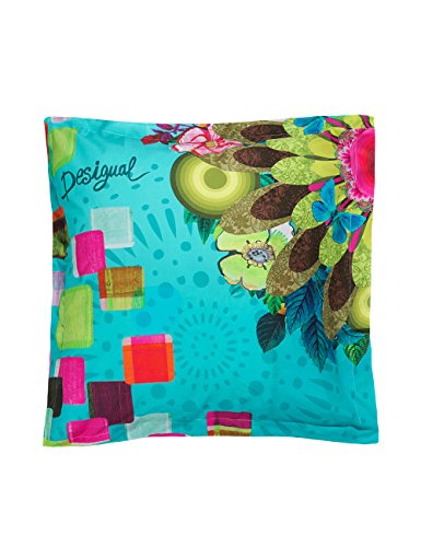 Desigual 61PL0Y6 Mojito Pillowcase, Green, Green, 65 X 65 cm