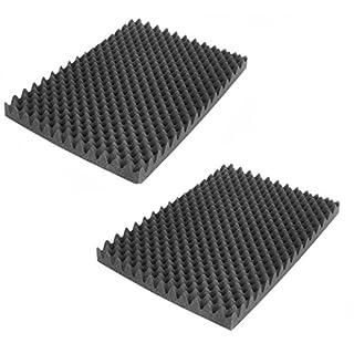 Noppenschaumstoff Akustik Schaumstoff Akustikschaumstoff Dämmung (500 mm x 350 mm x 50 mm) (Set 2 x Noppenschaum)