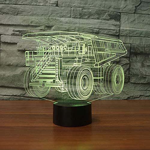3D Die Illusion Lampe RV-Modellierung LED Nachtlicht, USB-Stromversorgung 7 Farben Blinken Berührungsschalter Schlafzimmer Schreibtischlampe für Kinder Weihnachts geschenk Rv-batterie-kabel