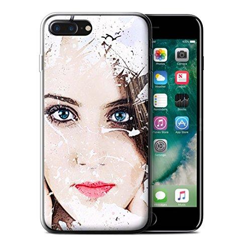 Stuff4 Gel TPU Hülle / Case für Apple iPhone X/10 / Gefrostet Gesicht Muster / Fragmenten Kollektion Winter-Gesicht