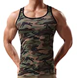 Ouye Herren Athletic Muskel Tank Top Camouflage Vest X-Large