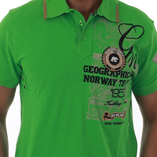 Polohemdshirt Geographical Norway Orange grün LIGHT GREEN