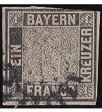 Goldhahn Bayern Nr. 1 gestempelt in Bedarfserhaltung mit Befund Schmitt Briefmarken für Sammler