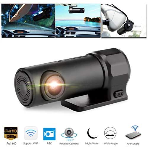 Prevently Dashcam Auto Camera, Autokamera Dash Camera Auto Dash Cam Kfz-Kamera Mibao Full HD1080P Versteckte Auto Kamera Wifi DVR Dash Cam Recorder Camcorder Nachtsicht Cam