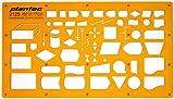 Schablone Zeichenschablone Technisches Zeichnen - EDV Elektronische Datenverarbeitung DV Programmablaufplan Symbole Symbolen für System und Programmierungsarbeiten sowie Datenfluss und Ablaufpläne