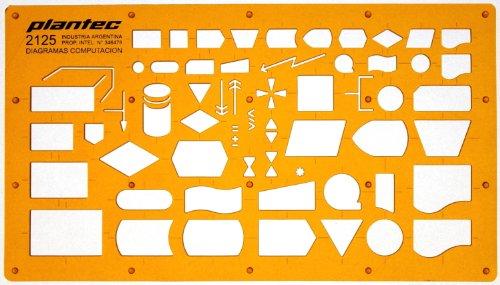 Schablone Zeichenschablone Technisches Zeichnen - EDV Elektronische Datenverarbeitung DV Programmablaufplan Symbole Symbolen für System und Programmierungsarbeiten sowie Datenfluss und Ablaufpläne - Dv-system