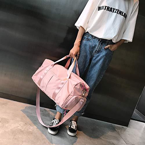 Frau mit FEDUAN Damen Gymtasche Pink