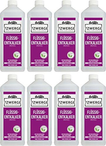7Zwerge I 8 x 1000 ml Universal Entkalker für Kaffeevollautomaten I Kaffeevollautomat I...