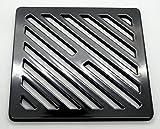 7pulgadas cuadrado sólido y de metal acero Gully cuadrícula Heavy Duty cubierta rejilla de drenaje como hierro fundido, más fuerte