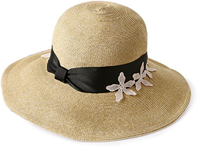 Ren Chang Jia Shi Pin Firm Cappello di Paglia Ricamato Sunhat del Cappello  del Sunhat Ricamato Tessere della Spiaggia di Vacanza... Parent 9aeb0d 1d7a87a793c3