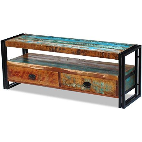 Antike Massivholz (TV-Schrank Fernsehtisch Fernsehschrank Hifi Lowboard Massivholz Vintage Antik)