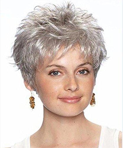 perruque brune femme floconneux volume courte lumière perruques synthétiques perruque européenne et américaine du parti de la mode de l'actrice
