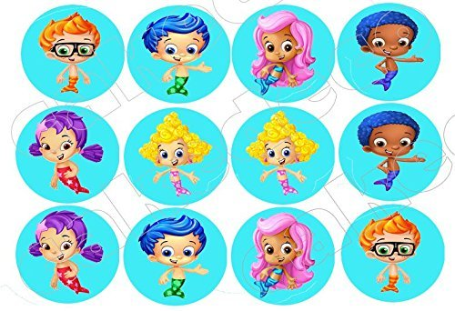 All Characters Bubble Guppies Edible image Cake topper decoration personalized -12x2 by Kopykake