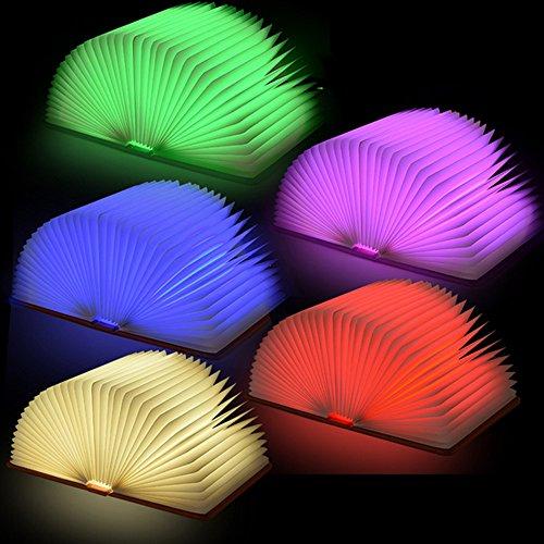 Mini pieghevole USB ricaricabili Nightlight Creative Book lampada LED luci decorative Desk Lamp per le donne delle ragazze degli allievi dei capretti dei bambini Regali con copertura frontale Blu