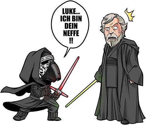 Parodie auf Kylo Ren und Luke Skywalker von Star Wars Langarm T-shirt (836) Schwarz