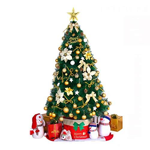 Gjif christmas tree - christmas tree package 1.5m / 1.8m / 2.1m decorazione natalizia con decorazioni natalizie (colore : oro, dimensioni : 150cm)
