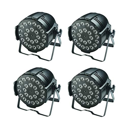 (4er Pack) LED Par Licht, 24x12w Vollfarbe 4IN1 RGBW, Verwendung für Disco, Ballsaal, KTV, Bar, Club, Party, Hochzeit (Licht Bar Pack)