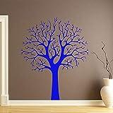 caowenhao Stickers muraux Modernes Salon décoration Murale Vinyle Amovible Stickers muraux Chambre décoration Maison décoration Papier Peint Bleu XL 58cm X 70cm