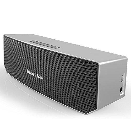 Bluedio BS-3 (Chameau) Enceinte Bluetooth Portable 3D audio Aimants en Néodyme Révolutionnaire/ 52mm. du Drive/ Enceinte sans fil avec la basse riche/ 3D stéréo surround scène Excellente Emballage détaillant de cadeau (Argenté)